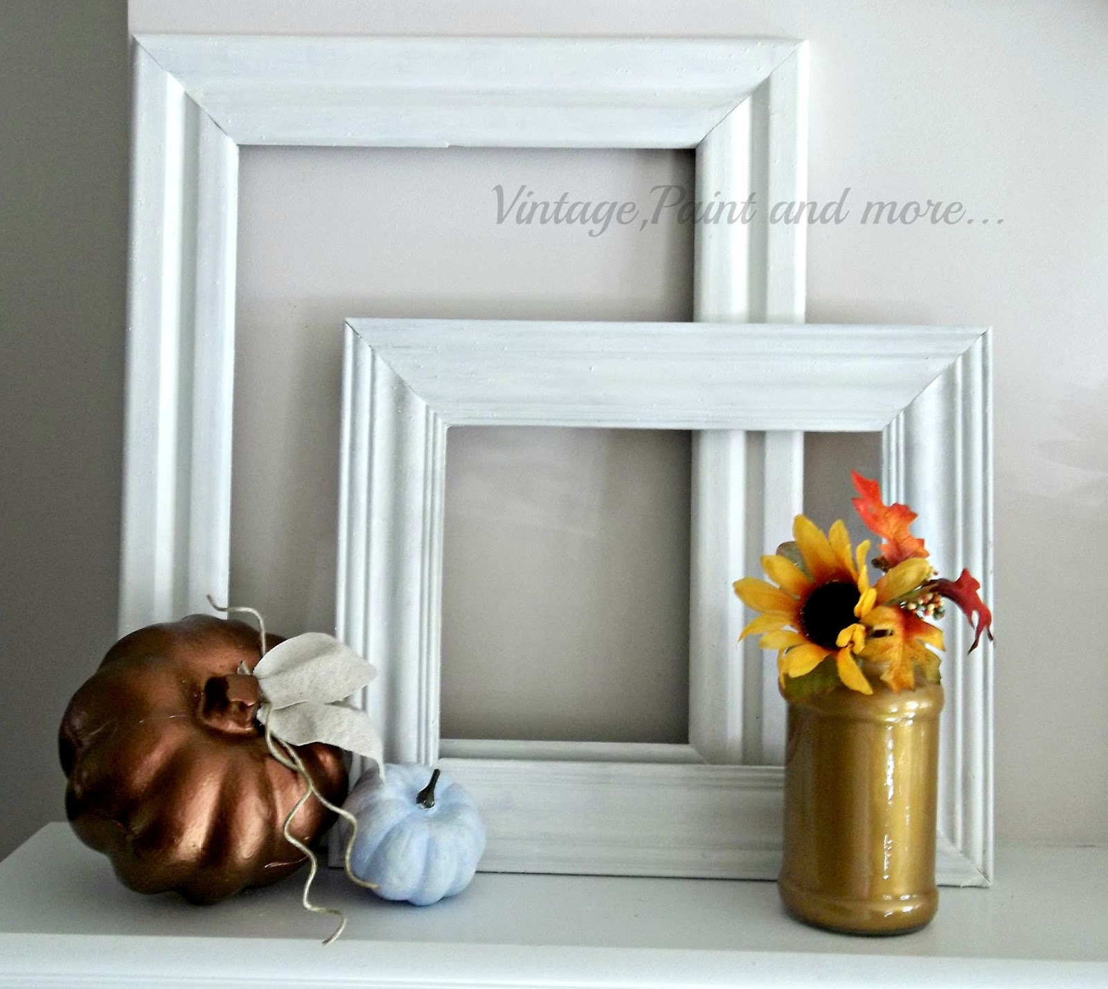 Vintage, Paint and more... metallic colors of fall, vintage fall decor, painted fall decor