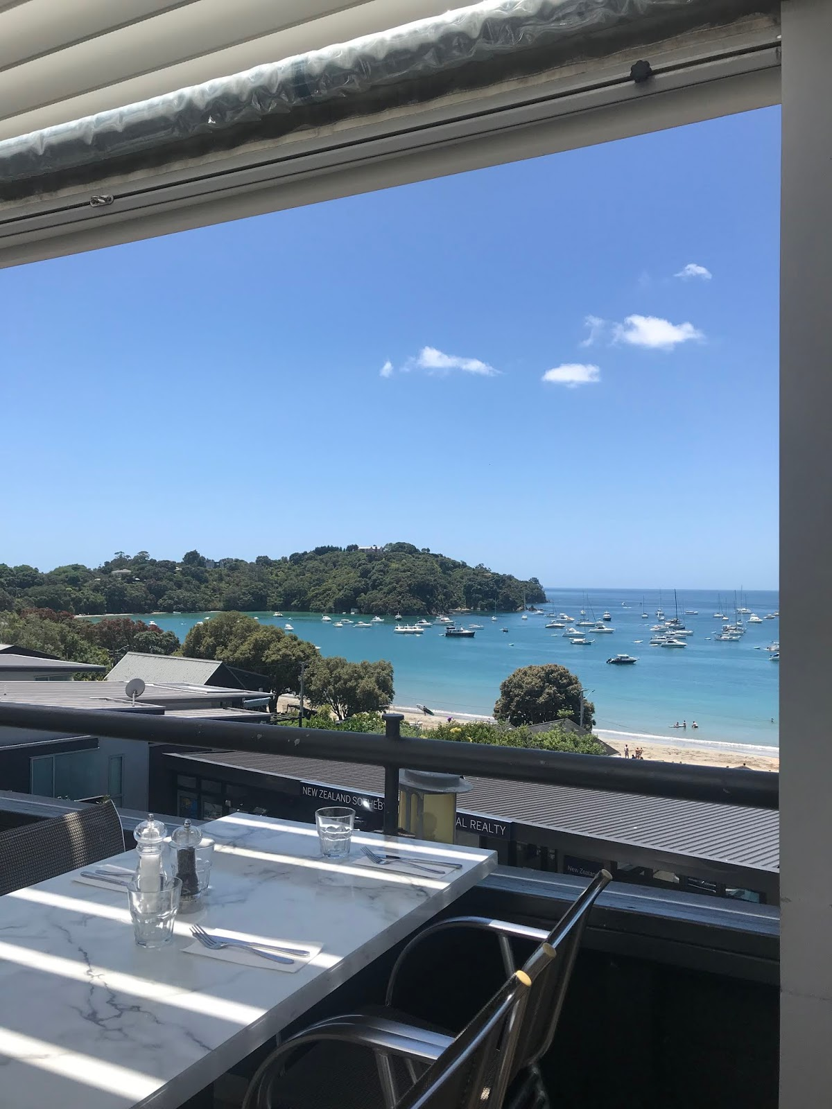 View from our restaurant in Waiheke Island