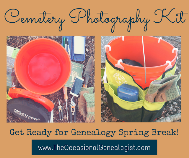 Get your cemetery photography kit together for genealogy spring break!