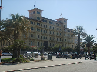 The Grand Hotel Royal in Viareggio is an example of the Liberty style architecture characteristic of the town