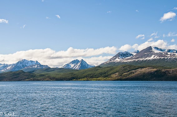 Canal Beagle en Ushuaia en Argentina