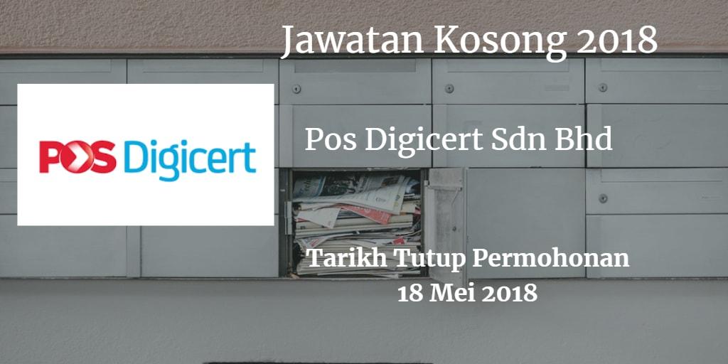 Jawatan Kosong Pos Digicert Sdn Bhd 18 Mei 2018