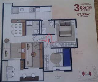 3 dormitórios santana na planta
