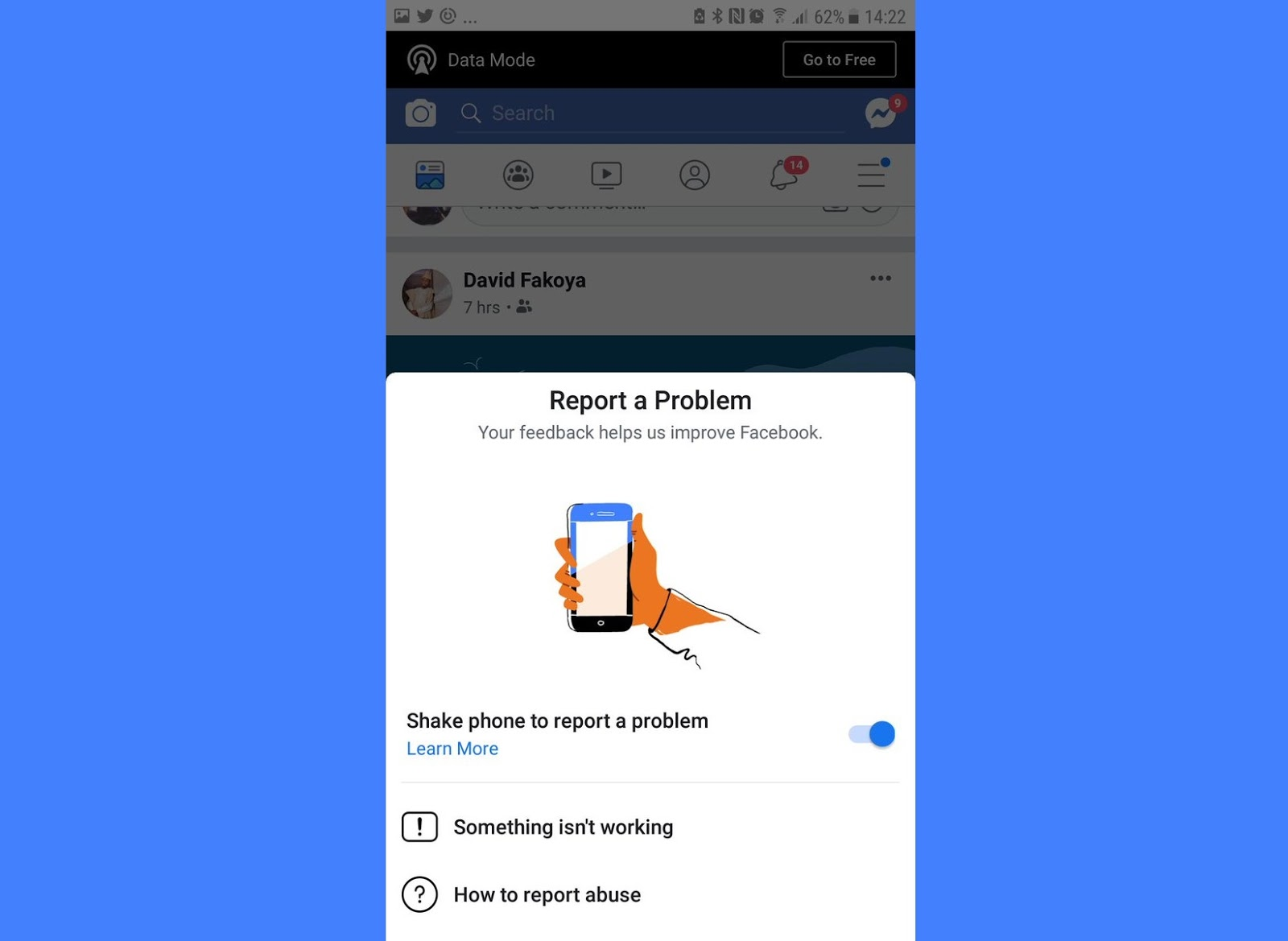 Facebook Shake To Report Feature Is Not Designed To Send Users In Fb Jail Digital Information World