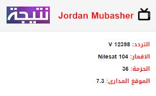 تردد قناة الاردن مباشر Jordan Mubasher الجديد 2018 على النايل سات