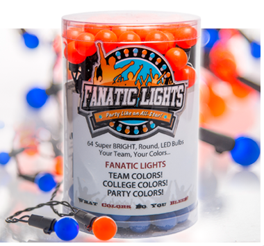 string lights in sports team colors