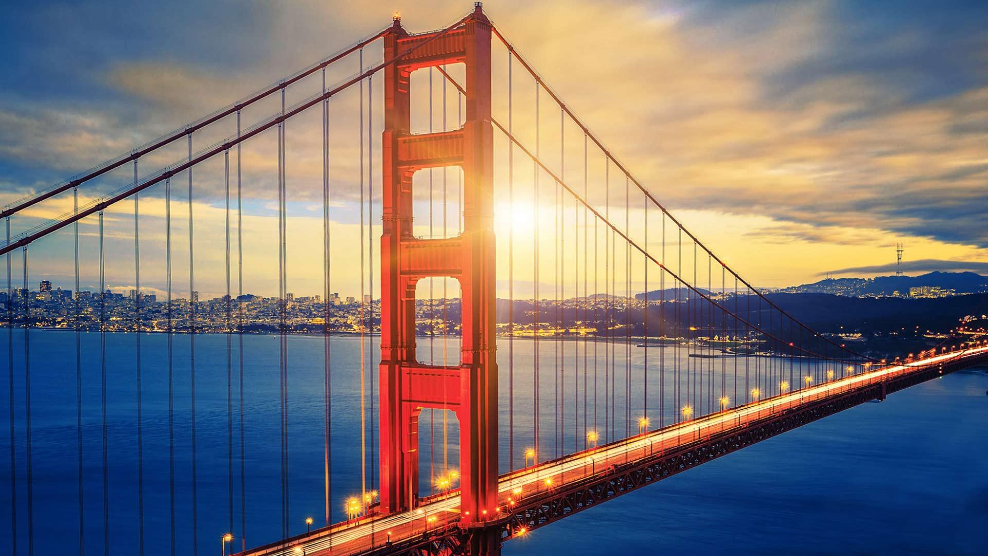 Golden Gate Bridge Sunset Hd