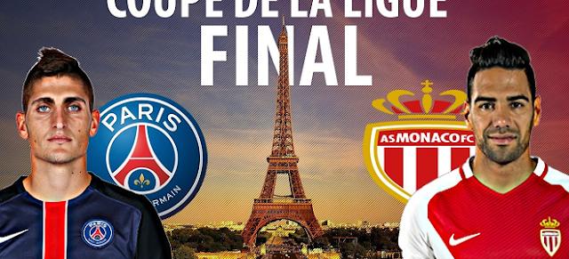 القنوات المجانية الناقلة لمبارة  باريس سان جيرمان وموناكو اليوم 31/3/2018 في نهائي كأس الرابطة الفرنسية
