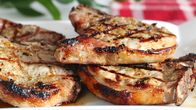 Grilled Lemongrass Pork Chops