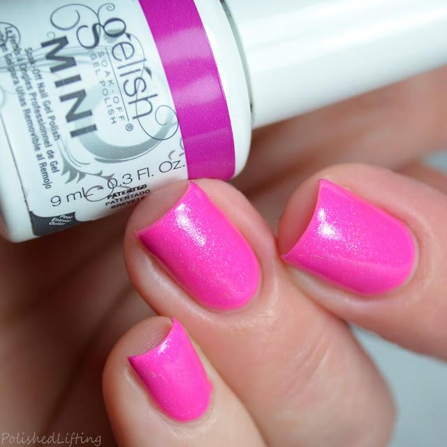 neon pink gel polish