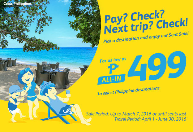 Cebu Pacific Promo Fares Philippine Destinations 2016