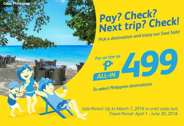Cebu Pacific Promo Fares Philippine Destinations 2016
