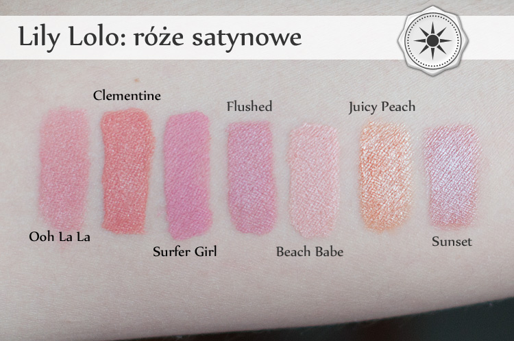 Lily Lolo blush swatches