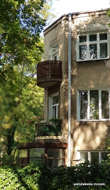 Warszawa Warsaw Saska Kępa lata 30 architektura willa ulice Saskiej Kępy balkon