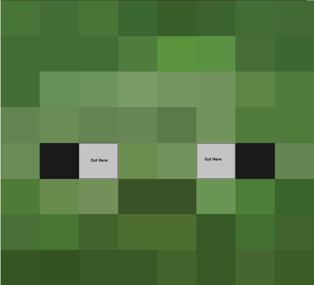 Cómo hacer la cabeza de un creeper de Minecraft, como ...