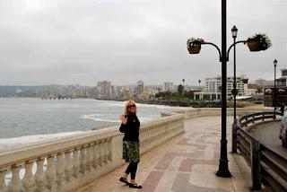 Pat dunlap Coast Sidewalk Vina del Mar Chile