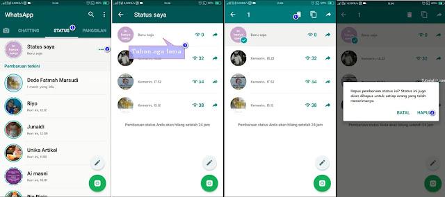 Cara menghapus status WhatsApp (WA) tanpa menunggu 24 Jam + video
