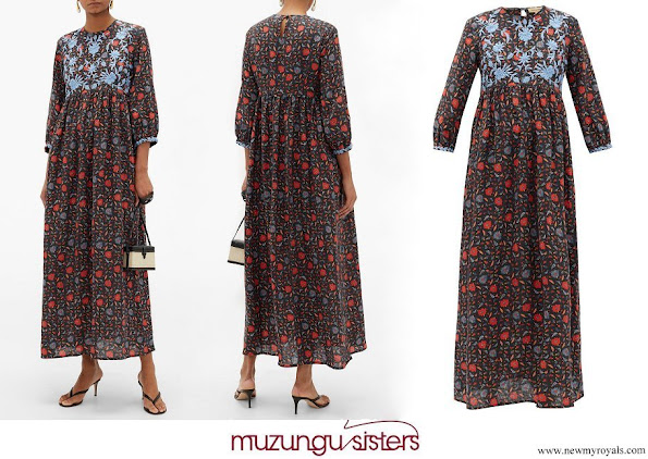Tatiana Santo Domingo wore a floral dress by Muzungu Sister
