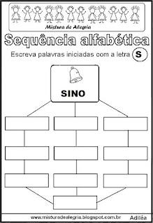 Sequência alfabética letra S