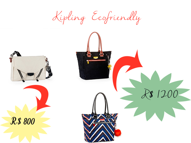 Conheça a coleção Kaeon de bolsas sustentáveis da Kipling
