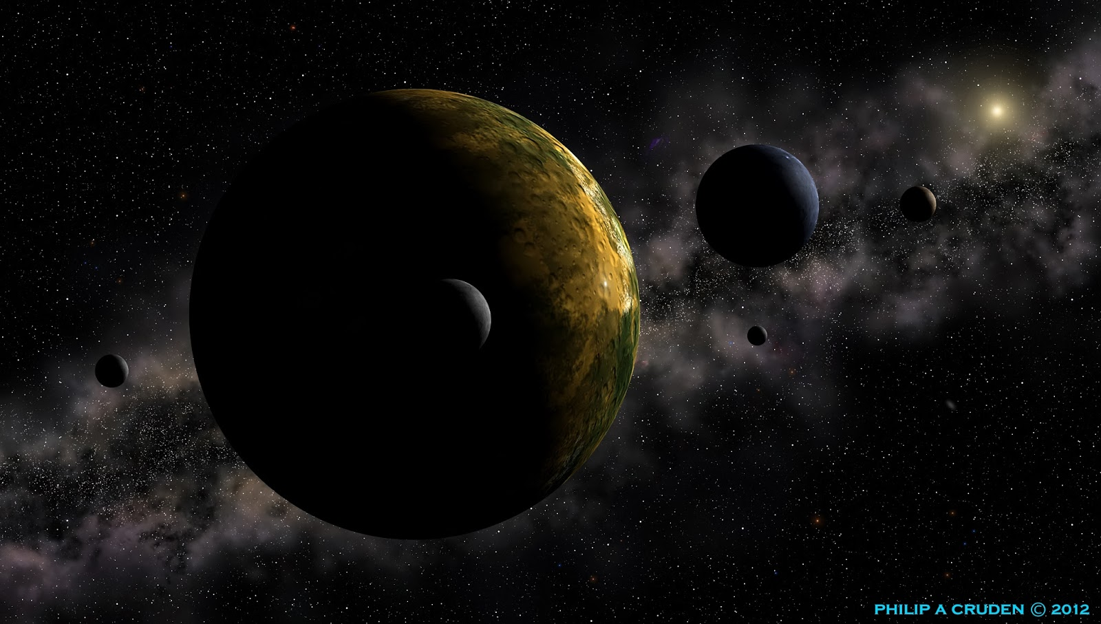 Pluto Moons Nix And Hydra S: Billion Planets Astronomy And Art: Exoplanets Planets