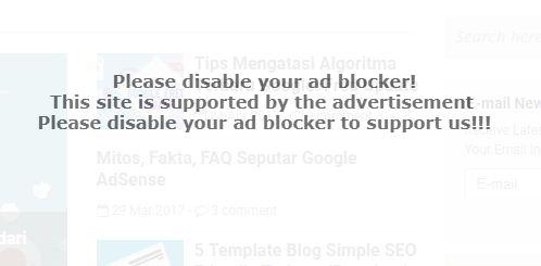 Script Anti AdBlock di Blogger