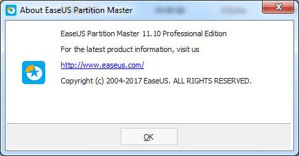 EASEUS Partition Master 11.10 License Code
