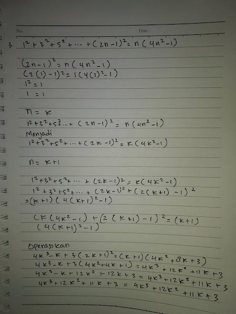 soal induksi matematika dan teorema binomial beserta jawabannya