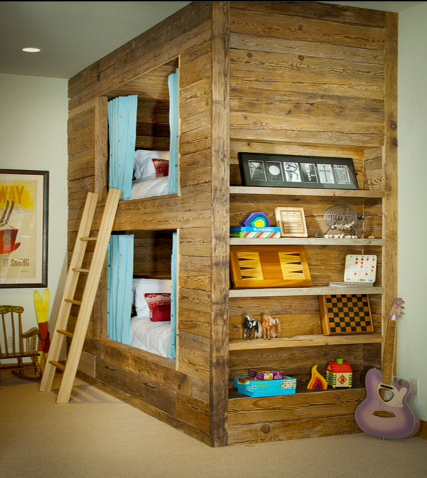 25 Awesome Shared Bedroom Ideas For Kids: Dwell Of Decor: 25 Awesome Double Deck Bed For Kids Rooms