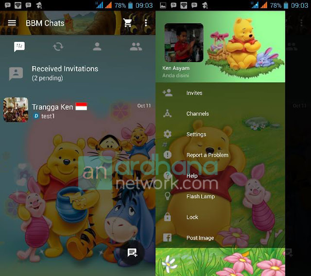 Preview BBM Winnie The Pooh