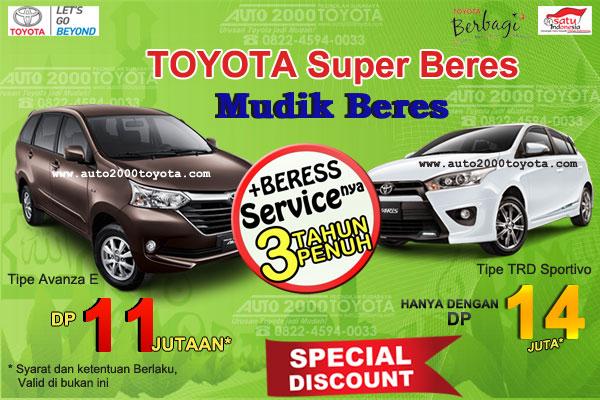 Promo Toyota Super Beres, Mudik Beres Surabaya 2016