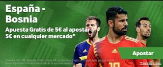 betway promocion España vs Bosnia 18 noviembre