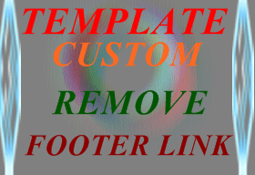 Blogger,template,footer kaise