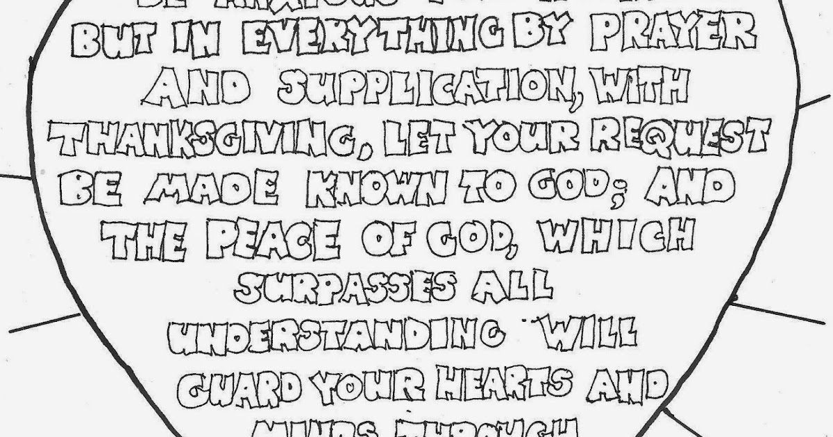 coloring pages for kids by mr adron be anxious for nothing philippians 4 6 7 free printable coloring page - Philippians 4 6 Coloring Page