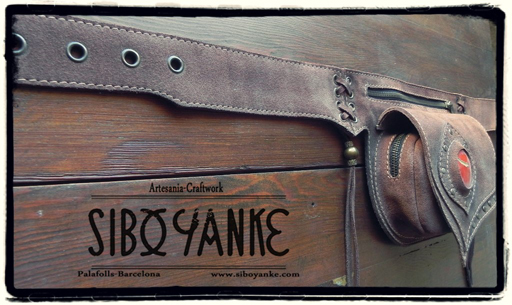 Leather Utility Belt, Fanny Pack, Festival Belt, Boho Belt, Gypsy Belt, Utility Belt