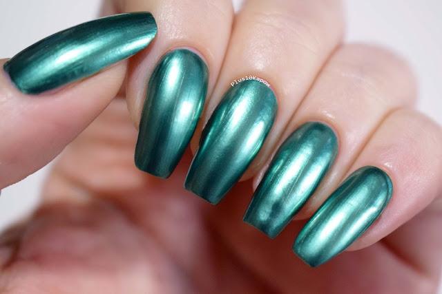 Beautybang Green Chrome Nail Polish