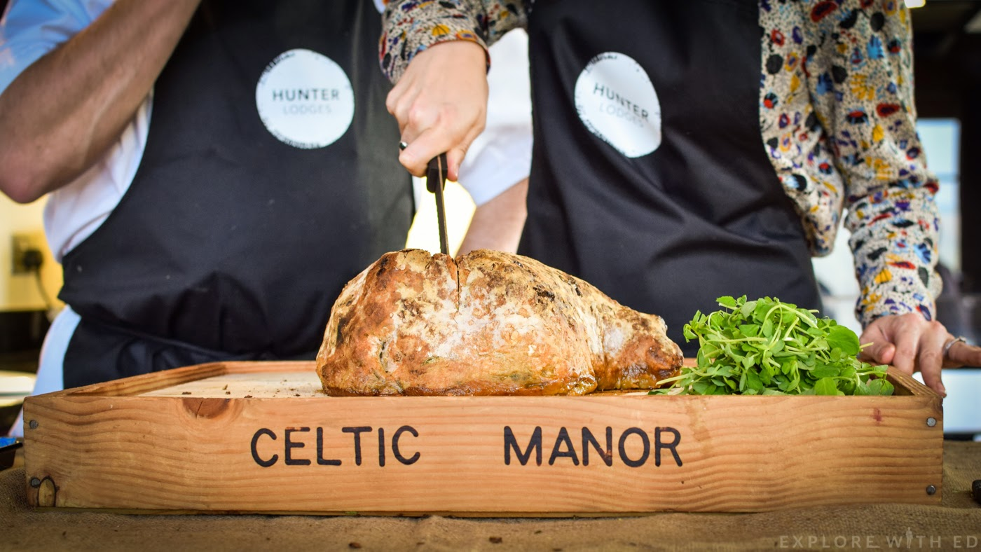 The Celtic Manor, Salt Baked Crusted Lamb, Hunter Lodges