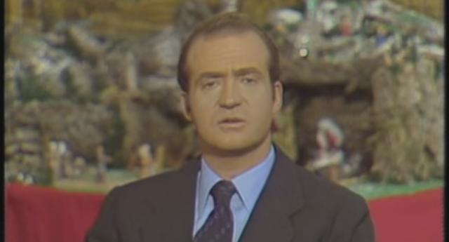 El rey elogiando a Franco en su primer discurso de Navidad (1975)