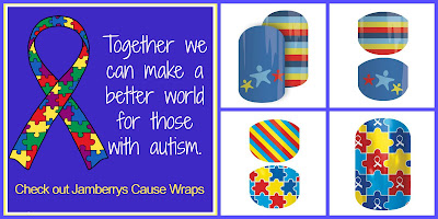 Autism Awareness through Jamberry Nail Wraps!