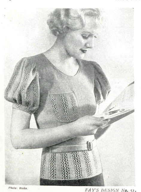 The Vintage Pattern Files: Free 1930s Knitting Pattern - Fay's Second Book of Knitting and Crochet