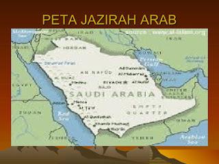 peta semenanjung arab