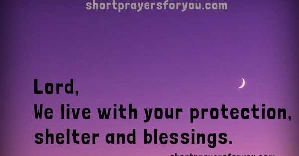 Good Night Prayer God Is In Our Home Short Prayers For You