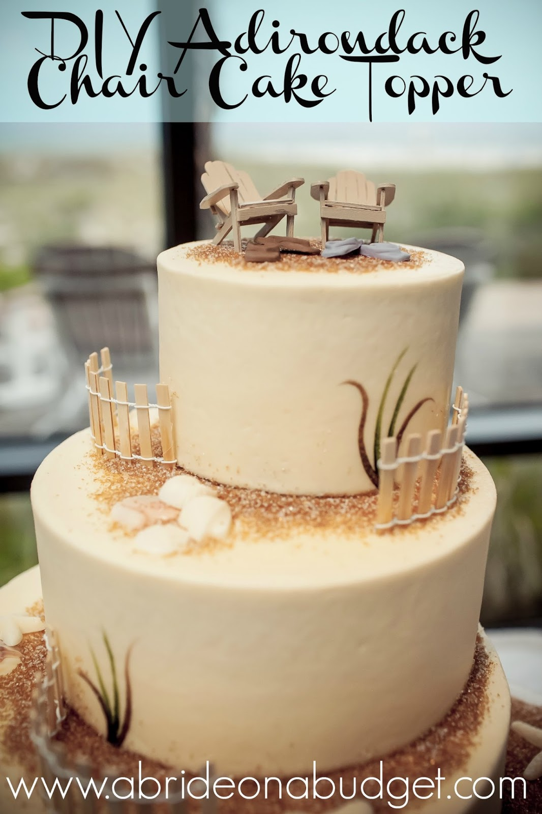 Planning A Beach Wedding Youll Want To Make This DIY Adirondack Chair Cake