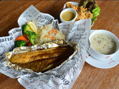 The Manhattan FISH MARKET Free Main Course Mediterranean Baked Fish