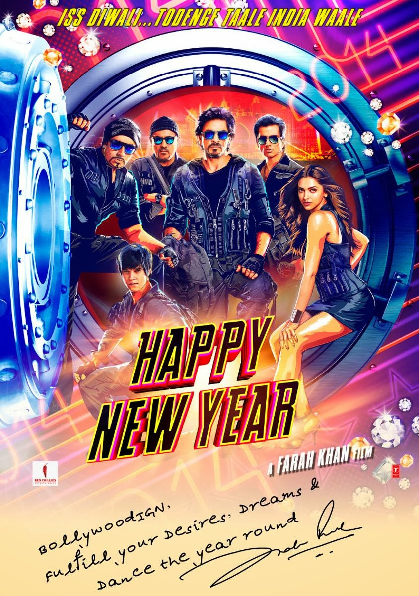 BOLLYWOOD BLOG: Upcoming movie poster - Happy New Year is ...