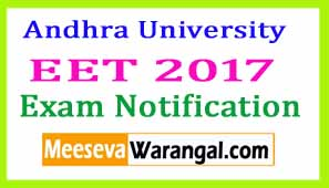 Andhra University EET Exam Notification