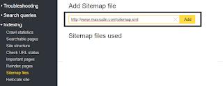 cara memasang sitemap yandex pada blog maupun website