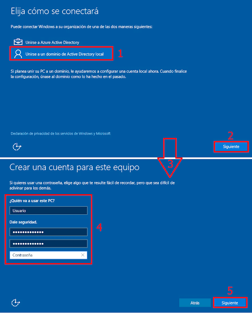 Unirse a un dominio de Active Directory local.