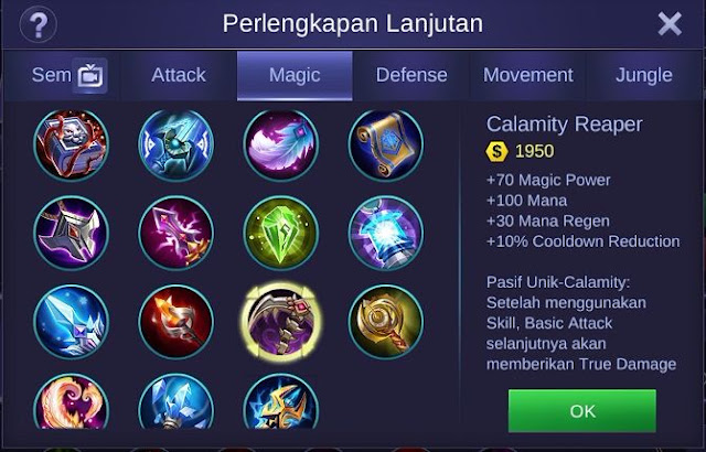 Calamity Reaper, Item Andalan Para Mage Assassin Di Mobile Legends Bang Bang