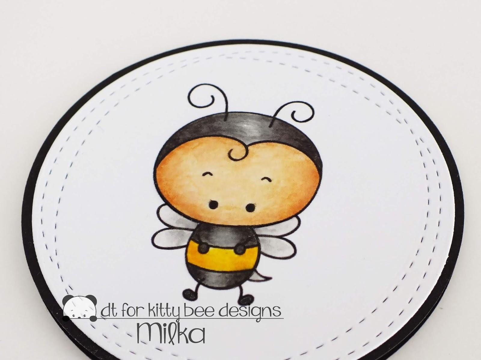 Crafty Milka Bumblebee Circle Card Kitty Bee Designs